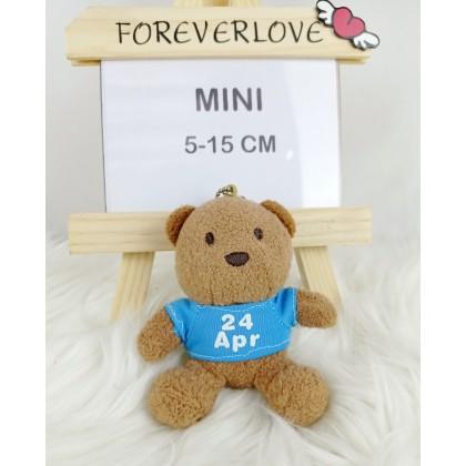 Birthday Bear MiniSoftToys/PlushToys/KidsToys/Key Chain 5-15cm 生日月份熊迷你娃娃玩具公仔钥匙圈5厘米-15厘米