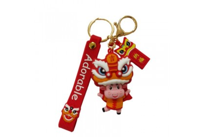 {M'SIA STOCK} Lion Dance Cow Key Chain/Key Ring/Pendant 3-8cm  舞狮牛迷你玩具公仔钥匙圈/钥匙扣3-8厘米