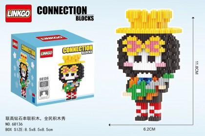 {M'SIA STOCK} One Piece Luffy Zoro Diamond Nano Block Mini Blocks Lego KidsToys Compactible 联高串联小颗粒钻石积木卡通海贼王微型拼装