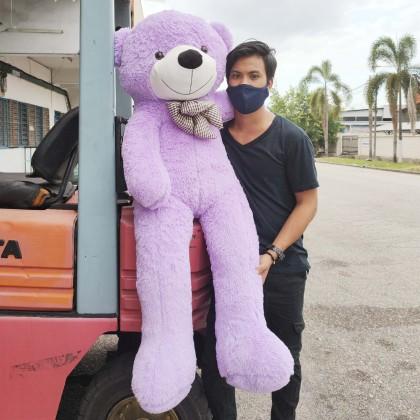 Bow Tie Teddy Bear SOFTTOYS/PLUSHTOYS/KIDSTOYS/DOLL 140CM 领结泰迪熊娃娃玩具公仔140厘米