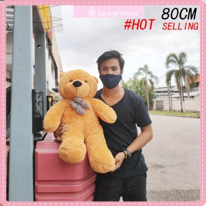 Bow Tie Teddy Bear SOFTTOYS/PLUSHTOYS/KIDSTOYS/DOLL 80CM 领结泰迪熊娃娃玩具公仔80厘米