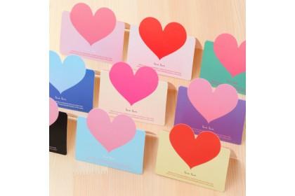 Love Happy Birthday Greeting Card Fathers/Mothers Day Wish Cards 爱心贺卡生日卡Kad Ucapan Part Hari Jadi Kad